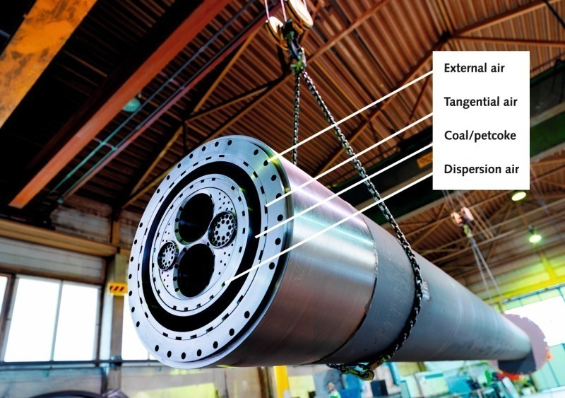 Modern high momentum FLEXIFLAME™ rotary kiln burner - Cement Lime Gypsum